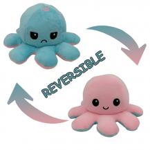 Fidget ToysDubbelsidig Vändbar Octopus Flip - Rosa/Blå