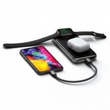 SatechiSatechi Quatro - Powerbank med inbyggd Qi-laddning och Apple Watch laddning