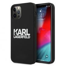 KARL LAGERFELDKarl Lagerfeld Skal iPhone 12 Pro Max Silicone Stack Logo - Svart