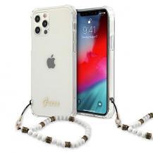 GuessGuess Skal iPhone 12 / 12 Pro Vit Pearl - Transparent