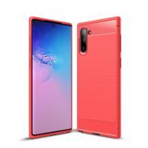 A-One BrandCarbon Fiber Skal för Samsung Galaxy Note 10 - Röd