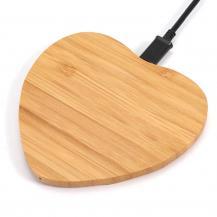 OEMWooden QI Trådlös Laddare - Heart