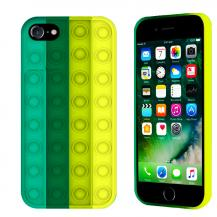 Fidget ToysPop it Fidget Multicolor Skal iPhone 7/8/SE (2020) - Mörk Grön