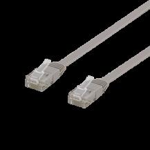 DeltacoDeltaco Flat Cat6 nätverkskabel, 5m, grå