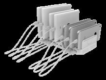 DeltacoDeltaco USB Laddningsstation 10xUSB-A, 19.2A 96W - Vit