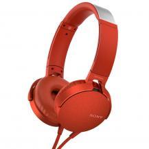 SonySony Headset MDR-XB550AP Röd
