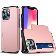 A-One BrandHybrid Skal med Kortplats till iPhone 13 Pro - Roséguld