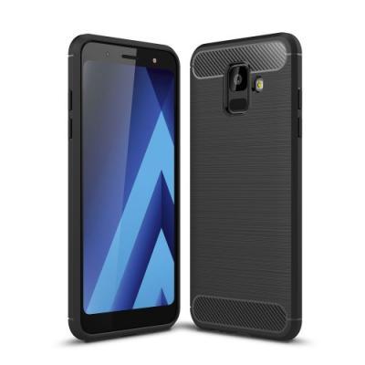 Brushed MobilSkal till Samsung Galaxy A6 (2018) - Svart
