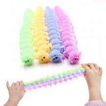 Fidget ToysFidget Toy - Squishy Larv - Caterpillar - Blandade Färger