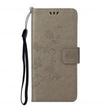 A-One BrandImprint Butterfly Plånboksfodral till Galaxy S21 Plus - Grå