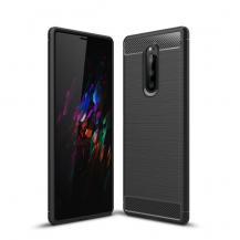 TaltechSkal i Kolfiber-look för Sony Xperia 1 - Svart