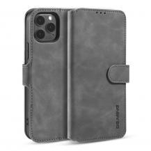 DG.MING Retro Läder Plånboksfodral iPhone 12 Pro Max - Grå