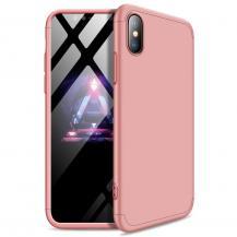 GKKGKK 360 Protection Fram bak skal iPhone XS Max Rosa