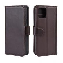 A-One BrandGenuine Split Plånboksfodral till iPhone 11 Pro- Brun