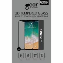 GEARGear Edge to Edge Härdat Glas 3D iPhone X/Xs/11 Pro  - Svart