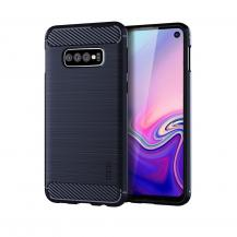 A-One BrandCarbon Brushed Mobilskal till Samsung Galaxy S10E - Blå