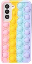 Fidget ToysPop it Fidget Skal till Samsung Galaxy S21 - MultiColor