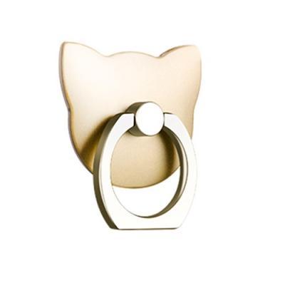 Katt Ringhållare till Mobiltelefon - Gold