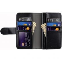 MelkcoMelkco Plånboksfodral med extra kortplatser iPhone X - Svart