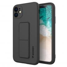 WozinskyWozinsky Kickstand Silicone Skal iPhone 12 Pro Max - Svart