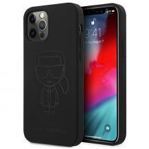 KARL LAGERFELDKarl Lagerfeld Skal iPhone 12 Pro Max Silicone Ikonik Outline - Svart