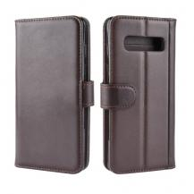 OEMGenuine Split Plånboksfodral till Samsung Galaxy S10 - Brun