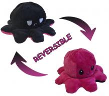 Fidget ToysDubbelsidig Vändbar Octopus Flip - Rosa/Svart