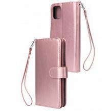 A-One BrandElegant Plånboksfodral till iPhone 12 & 12 Pro - Roséguld