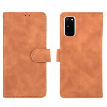 OEMSkin-touch Plånboksfodral Galaxy S20 FE - Brun