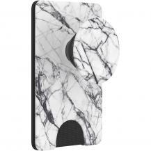PopSocketsPOPSOCKETS Wallet Dove White Marble Avtagbar Mobil Plånbok PopWallet+