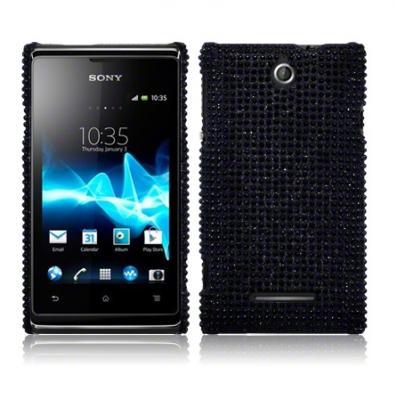 Diamante Skal till Sony Xperia E - Svart