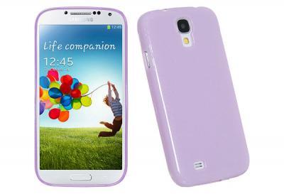 Glittery FlexiSkal till Samsung Galaxy S4 - i9500 (Lila)
