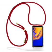 CoveredGear-NecklaceCoveredGear Necklace Case Samsung Galaxy J4 Plus - Maroon Cord