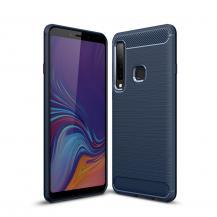 OEMCarbon Brushed Mobilskal till Samsung Galaxy A7 (2018) - Blå