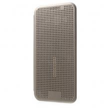 OEMDot View Smart Leather Flip Case till Samsung Galaxy J5 - Grå