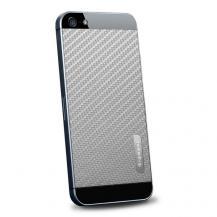 SpigenSpigen Skin Guard Carbon Skin till Apple iPhone 5/5S/SE (Grå) + Skärmskydd