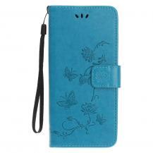 OEMImprint Läder Plånboksfodral iPhone 12 & 12 Pro - Blå