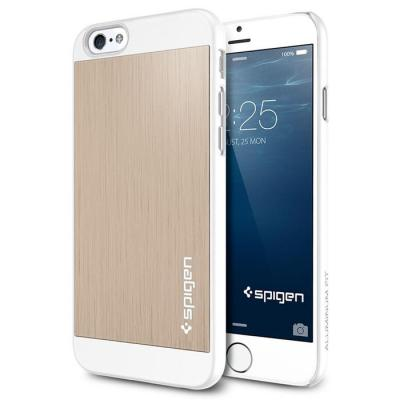SPIGEN Aluminium Fit Skal till Apple iPhone 6/6S (Gold)