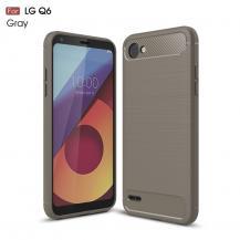 A-One BrandCarbon Brushed Mobilskal till LG Q6 - Grå