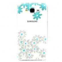 OEMFlexicase Skal till Samsung Galaxy J7 (2015) - Blå Blommor