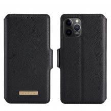 A-One BrandMuxma Saffiano Plånboksfodral till Apple iPhone 12 & 12 Pro - Svart