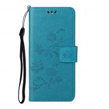 A-One BrandImprint Butterfly Plånboksfodral till Galaxy S21 Plus - Blå