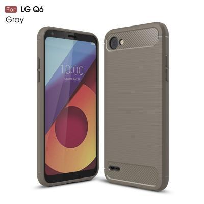 Carbon Brushed Mobilskal till LG Q6 - Grå