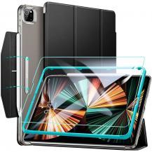 ESRESR - Ascend Trifold & Härdat Glas iPad Pro 12.9 2021 - Svart