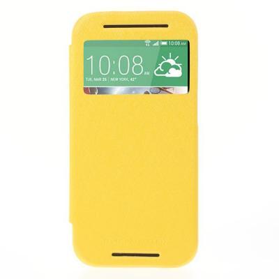 Mercury Bumper View Plånboksfodral till HTC One M8 (2014) - Gul