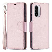 A-One BrandLitchi Plånboksfodral till Xiaomi Mi 11i / Poco F3 - Rose Gold