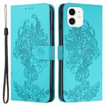 A-One BrandTiger Flower Plånboksfodral till iPhone 12 Mini - Turkos