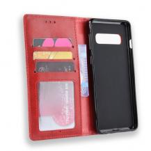 A-One BrandVintage Plånboksfodral till Samsung Galaxy S10 Plus - Röd
