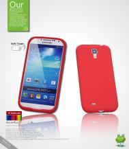 SeepooSeepoo Silikonskal till Samsung Galaxy S4 i9500 (Röd) + Skärmskydd