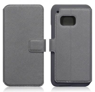 Slim Plånboksfodral till HTC One M9 - Grå